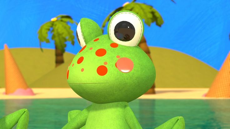 Five Little Speckled Frogs - Still from video by #HuggyBoBo  Watch on YouTube https://youtu.be/fPxIkRgfAmI