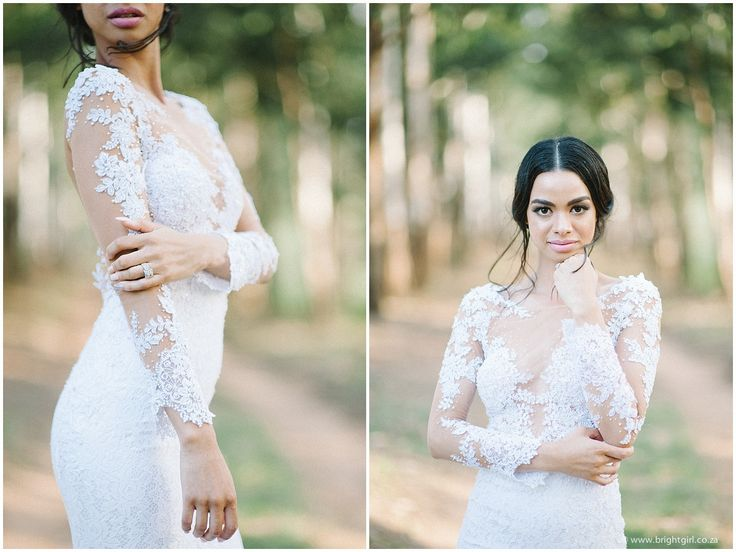 Our beautiful bride Cherise, in her bespoke Hanrie Lues Bridal dress. Photo: Brightgirl