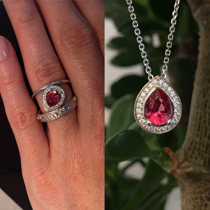Voici une pierre d'exception! Une magnifique tourmaline rose. Vous l'aimez mieux en bague ou en pendentif?