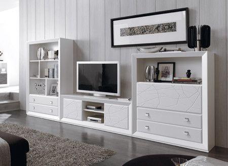Te mostramos todos los modelos de Muebles de salón baratos low cost que tenemos. Con transporte y montaje gratis para toda España (Consulta condiciones).