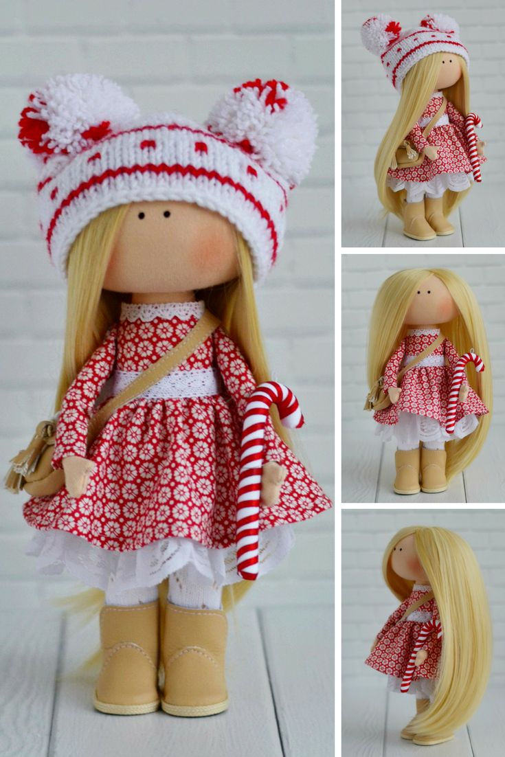 Winter Christmas Doll Handmade Tilda Doll Red Decor Doll Art Cloth Doll Fabric Rag Doll Poupée Bambole di stoffa Textile Doll by Maria K This is handmade cloth doll created by Master Maria K (Moscow, Russia). Doll is 26 cm (10 inch) tall and made of only quality materials. Doll can be a great present for your children, family, colleages or friends. Style of doll easily helps to use such doll as home decoration and interior design.