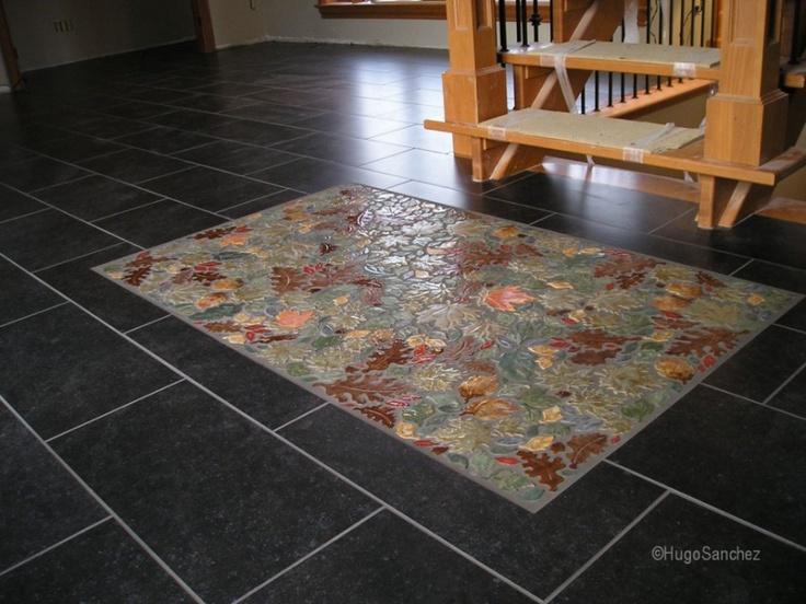Fall leafs ceramic mosaics | Céramiques Hugo Sanchez Inc