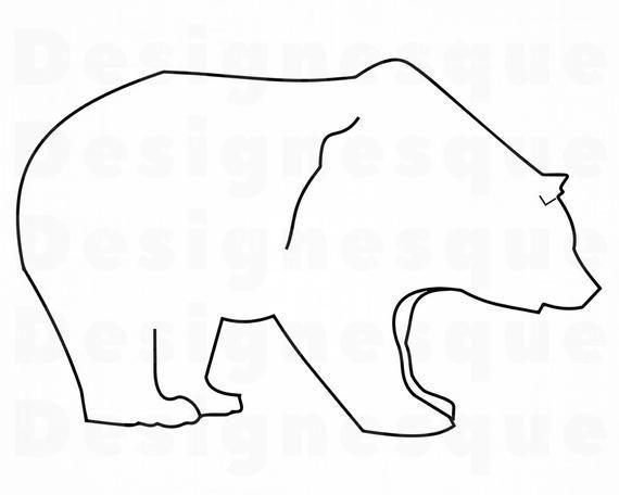 Bear Outline Svg Bear Svg Grizzly Svg Bear Clipart Bear Etsy In 2021 Bear Clipart Outline Clip Art