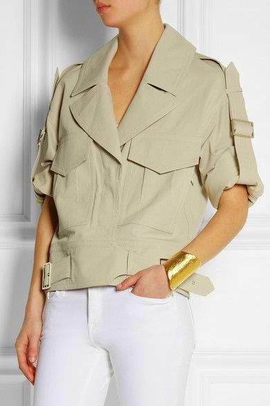 Jason Wu - Safari jacket & white trousers