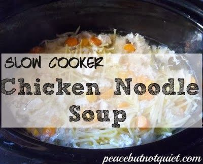 Crock-Pot Chicken Noodle Soup -- perfect for busy, chilly days!
