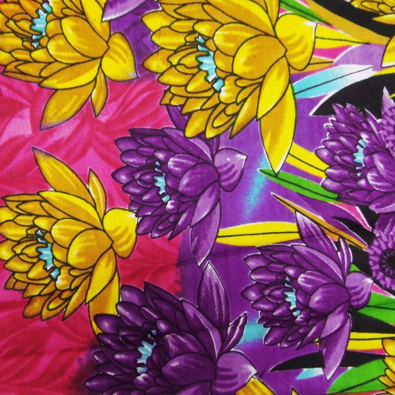 Rayon Fabric With Pink Color Floral Pattern Printed 44 Wd