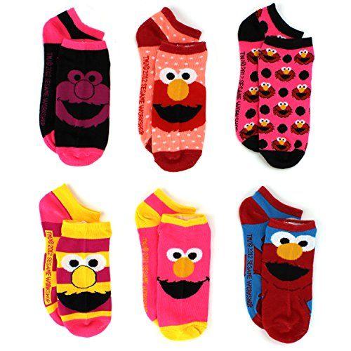 Sesame Street Elmo Womens 6 pk Ankle Socks (9-11, Elmo) Sesame Street #MothersDay #GiftforMom Teen Youth Teenager Ladies #YankeeToyBox www.YankeeToyBox.com