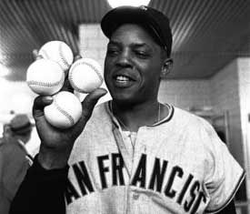 Willie Mays - Greatest of All Time. I met him in the elevator of AT Park last season. One of the coolest things to happen to me!
