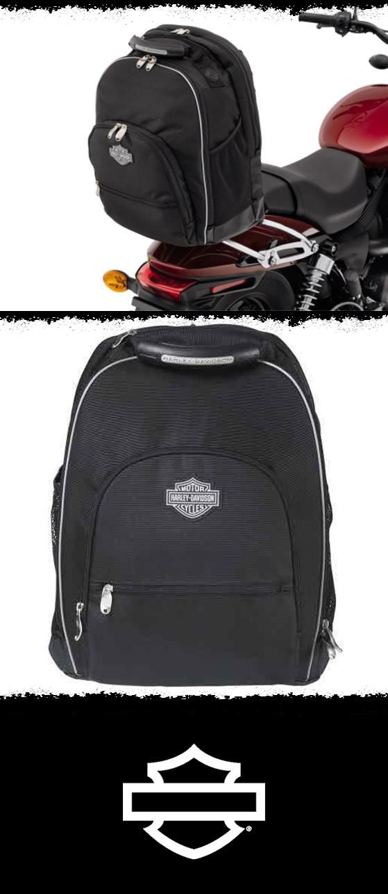 This attractive backpack is shaped to provide convenient storage on your way to work…or Daytona. | Harley-Davidson Premium Sissy Bar Backpack