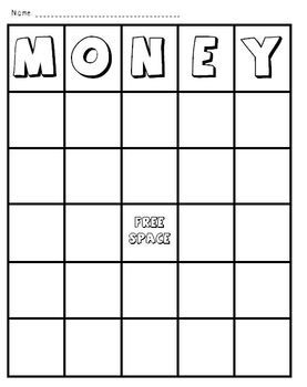 In this fun activity, students cut and glue the coins onto their game board after coloring them. Then you can use the game boards as a whole class or small group activity to practice money identification.