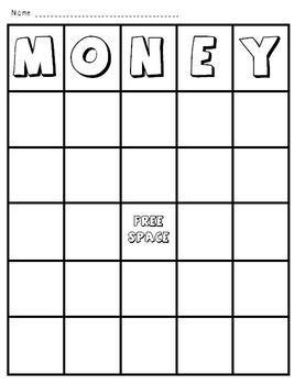 free money bingo money games worksheets pinterest. Black Bedroom Furniture Sets. Home Design Ideas