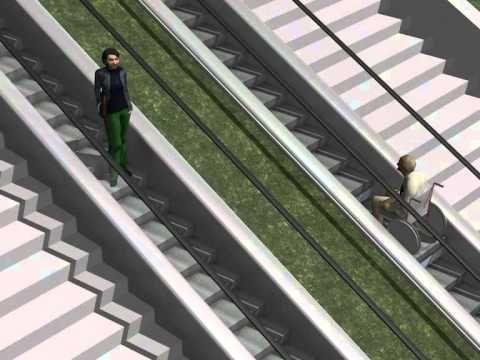 Escalera mecánica que se adapta a sillas de ruedas y objetos voluminosos | TURISMO ADAPTADO