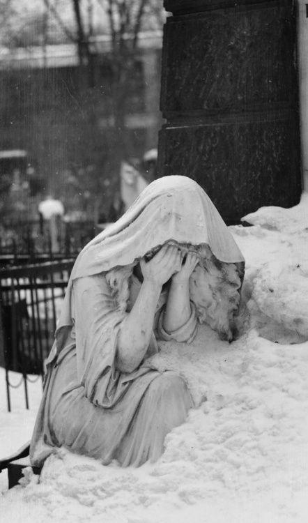 Pleurant │ Pleurez means 'to weep' in French. A pleurant symbolizes solitude, spirituality, introspection, and sorrow.
