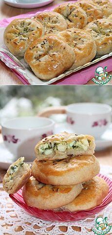 Булочки на кефире с оливками и зеленью - кулинарный рецепт