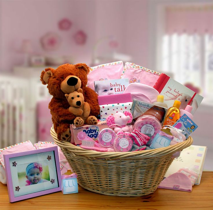 DELUXE WELCOME HOME PRECIOUS BABY BASKET - PINK
