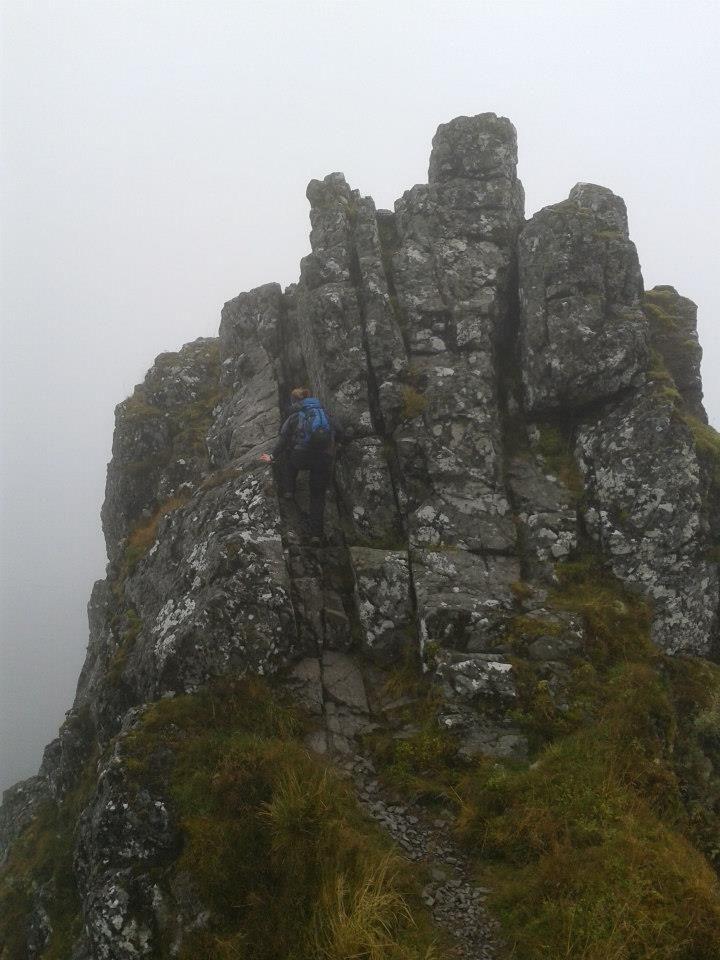 Scrambling on Aonach Eagach, September 2012