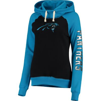 Women's Carolina Panthers G-III 4Her by Carl Banks Black Scrimmage Pullover Hoodie