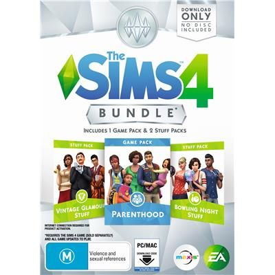 The Sims 4 Bundle (Parenthood, Vintage Glamour Stuff, Bowling Night Stuff)