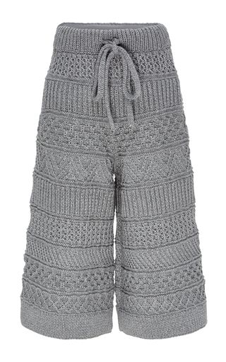 The Fisherman Hand Knit Cotton Blend Culottes by SPENCER VLADIMIR Now Available on Moda Operandi