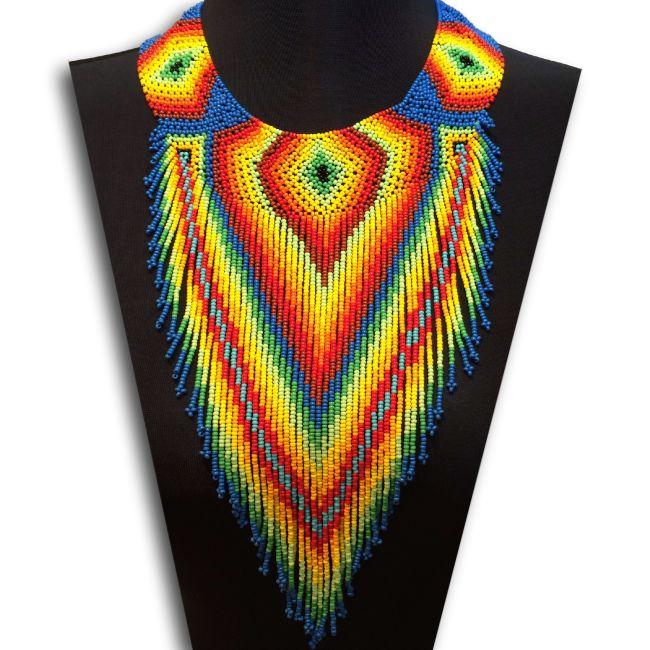 Embera V Choker Necklace - Blue