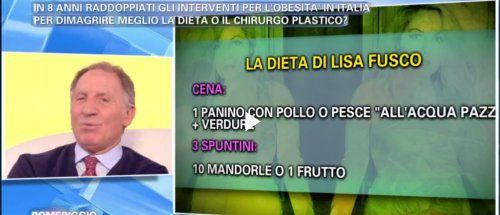 La nuova dieta del dottor Sorrentino spiegata su pomeriggio 5 è un regime bilanciato, che il professore ha messo a punto per Lisa Fusco. - Pagina 2