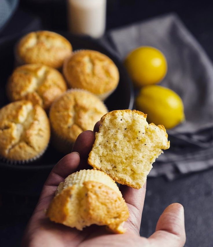 Лимонные мафины с маком