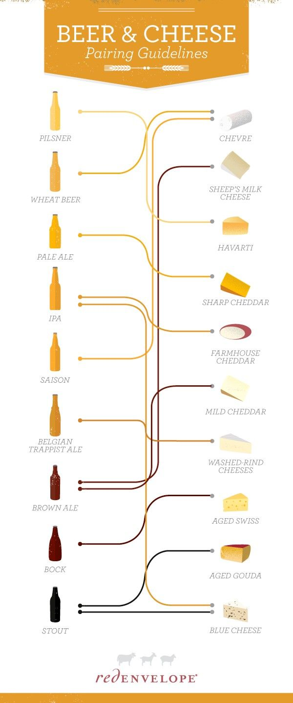 Great Beer and Wine Pairings Infographic from #Redenvelope