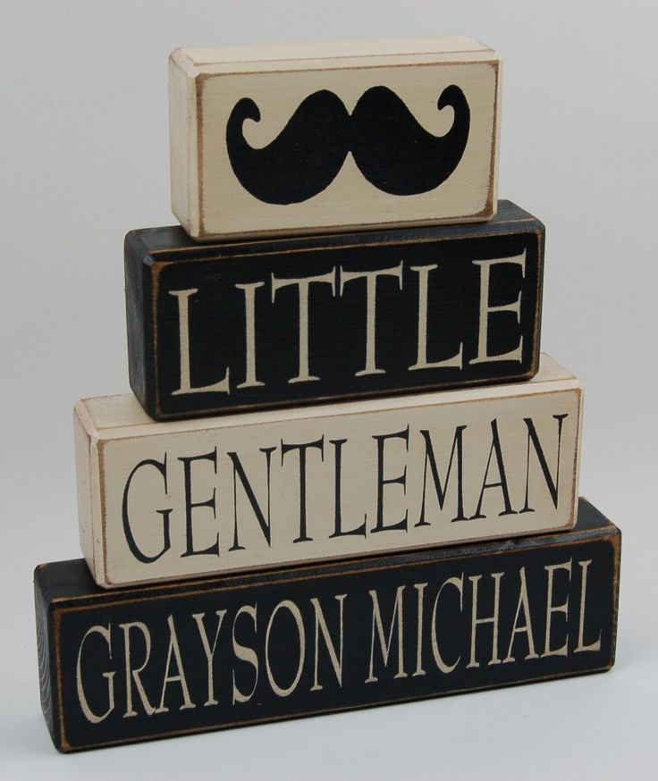 Personalized Name-Little Gentleman-Bow Tie-Mustache home decor, birthday decoration, nursery room decor