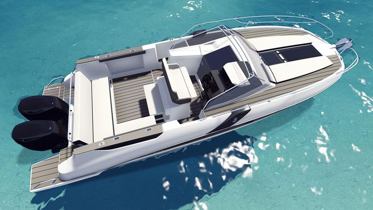 The SUNdeck version of the Flyer8.8 is the latest model in the #Beneteau #Flyer range.   It will be shown exclusively to the general public at the upcoming #Cannes Yachting Festival (8-13 Sept 2015).