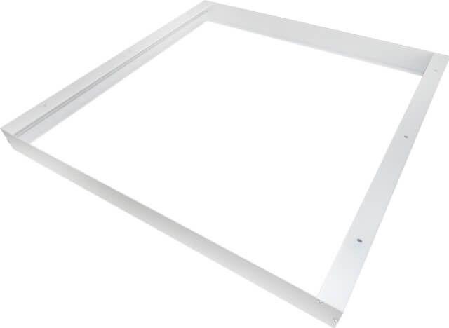 Conceputa in culoare alb pentru a fi mascata in tavanul de aceeasi nuanta, aceasta RAMA ALBA MONTAJ APLICAT PANOU LED 60X60CM metalica este solutia perfecta pentru a monta prin aplicare un panou LED 60 cm x 60 cm prevazut a fi instalat prin incastrare.