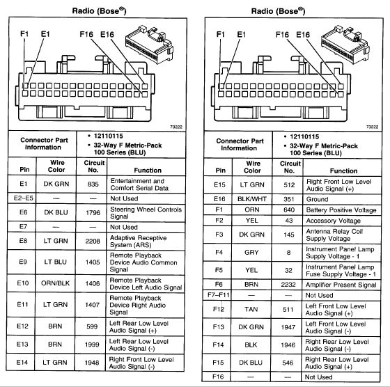 buick car radio stereo audio wiring diagram autoradio connector wire installation schematic