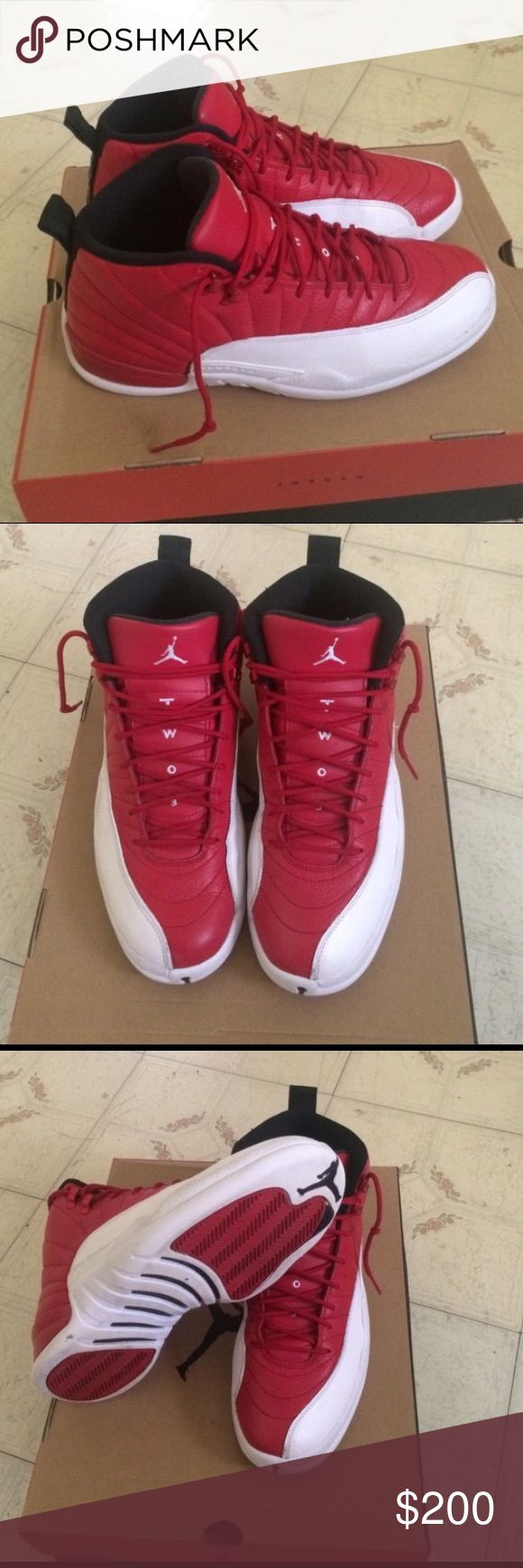 Retro Jordan Gym Red 12s Brand new Retro Jordan's Gym Reds 12s. Contact me at (908) 484-6741 Jordan Shoes Sneakers