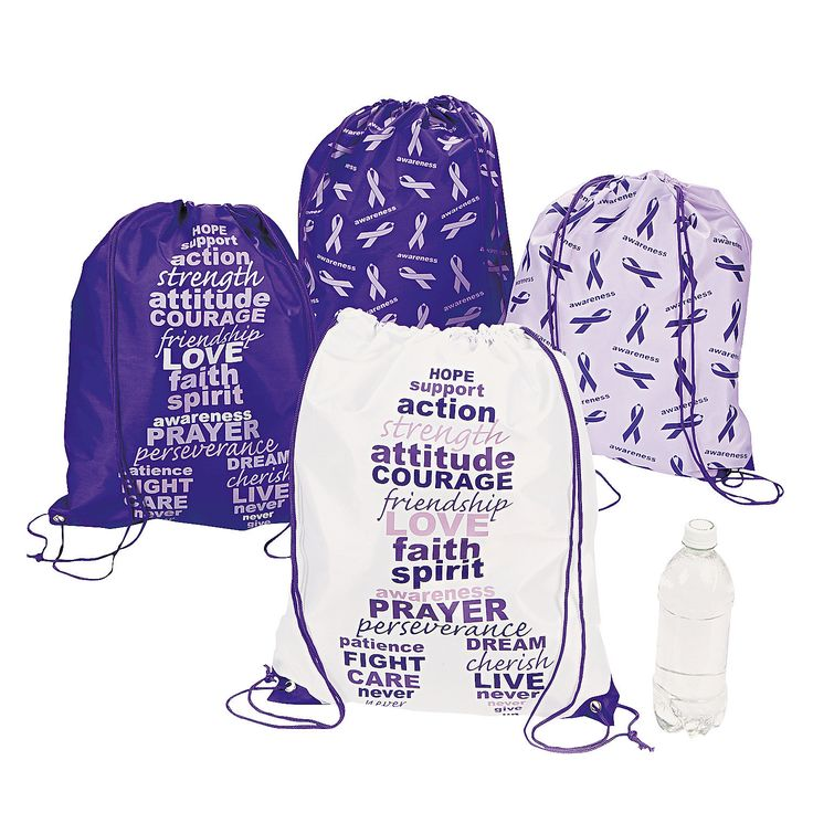These drawstring bags are a great way to bring awareness to your cause! - OrientalTrading.com