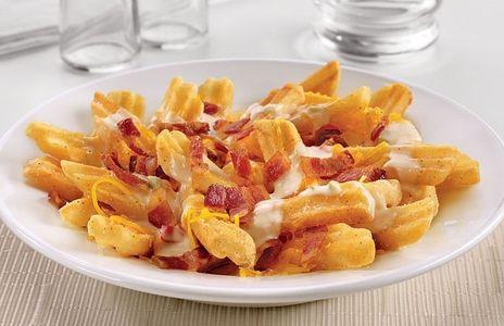Receta Patatas fritas con queso y bacon