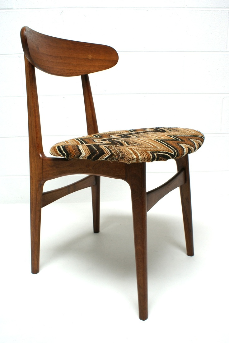 Wood swivel desk chair laquered finish warms amp padded seat ebay - Teak Desk Sewing Chair 159 Waterford Vintage Furniture Mcm Http