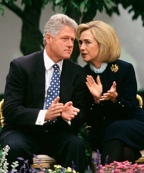"Extracted from: The Clintons At The White House by Sally Bedell Smith ... Why Hillary Clinton let husband Bill seduce any woman in sight - 01/15/2008. ""Anyone who criticised the Clintons, we wanted to know what was in their background and what might be in their closet..."" Bill's seductions - Hillary's rage - Billary's committed in their pursuit of political power... http://www.dailymail.co.uk/femail/article-507762/Why-Hillary-Clinton-let-husband-Bill-seduce-woman-sight.html"