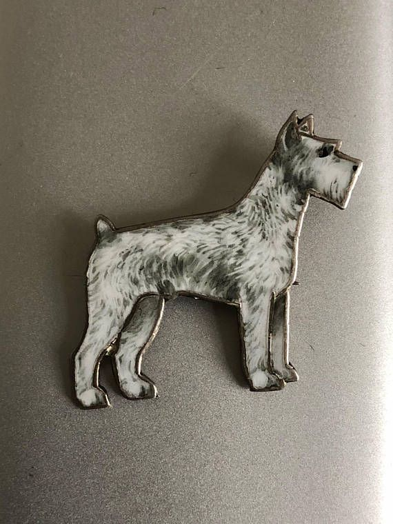 1920s Art Deco Sterling Silver And Enamel Doggy Pin 1920s Art
