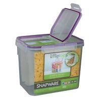 Snapware 17 Cup Medium Flip Top TM Rectangle Storage Container 4012 - 3100-6505