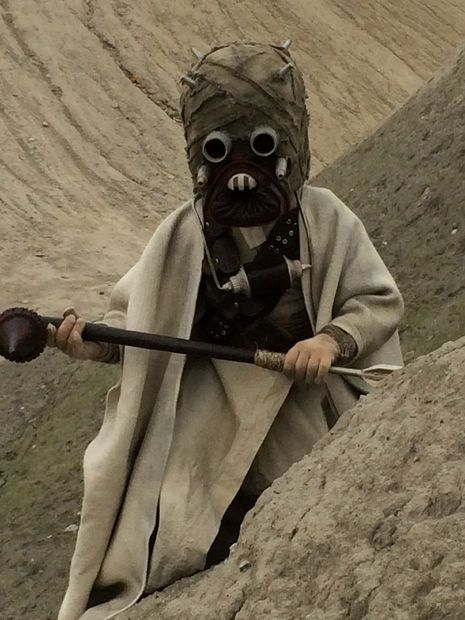 Tiny Tusken Raider. My 7 year old son in costume