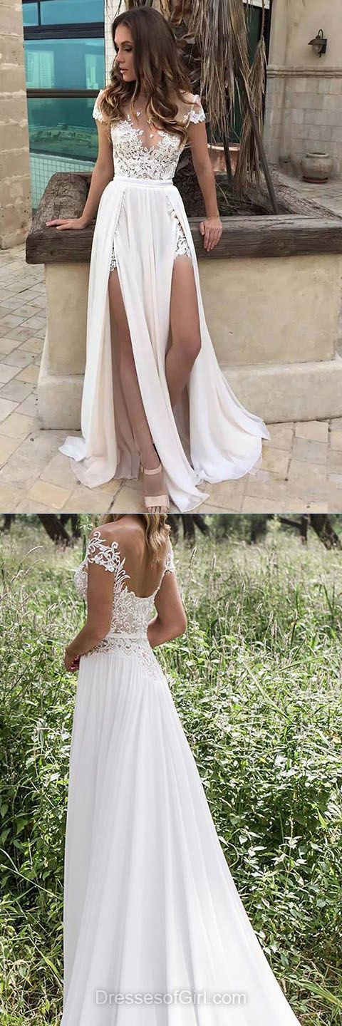 Beach Wedding Dresses, Lace Bridal Gowns, Vintage Wedding Gowns, Simple Bridal Dresses, Sexy Wedding Dress
