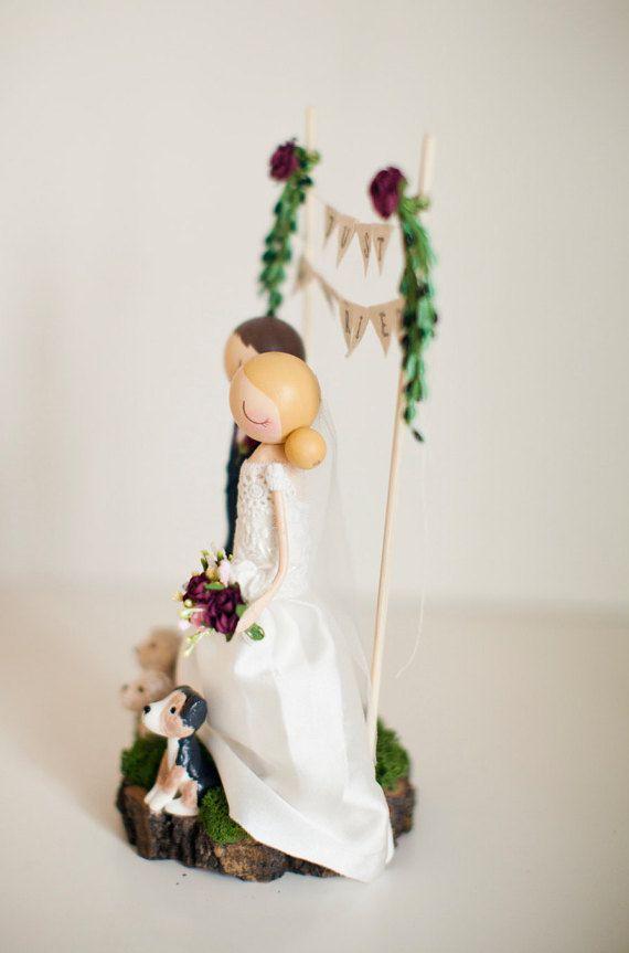 Rustikale Hochzeitstorte Topper Boho Cake Topper Boho von theroomba