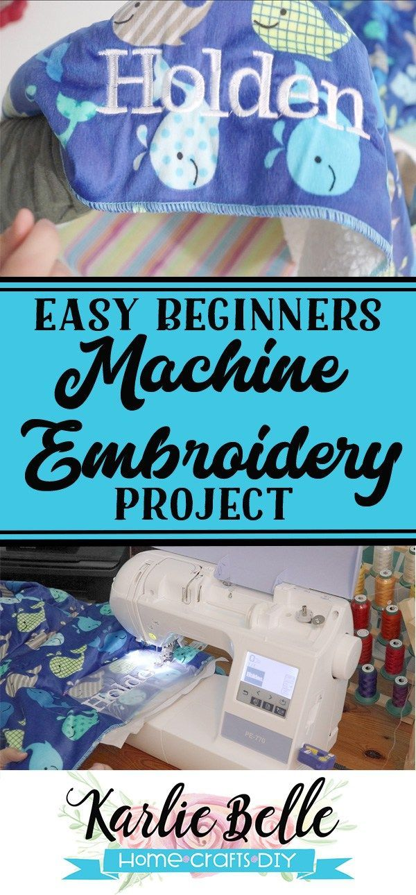 Easy Beginners Machine Embroidery Project How To Add A Name To A