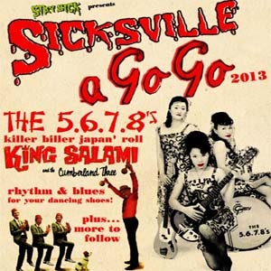 Friday 21st June will see Stay Sick presenting Sicksville A Go Go with the 5.6.7.8's & more at Concorde2! If you fancy a wild night of twistin' 60s dance music to shake, rattle, & roll to get down to Concorde2. Tickets are on sale now from the C2 website with a very limited number of early bird tickets for just £11 + bf in adv so click the image now to get yours before they're all gone!