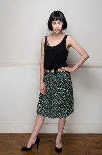 Vintage floral pleated mini skirt - Skirts - Womens Vintage   Retro & Vintage Clothes UK