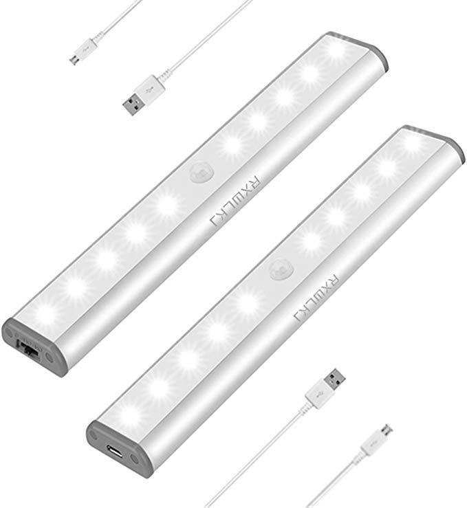Stick On Anywhere Portable Little Light Wireless Led Under Cabinet Lights 10 Led Motion Sensor Activate In 2020 Motion Sensor Closet Light Cabinet Lighting Tape Lights