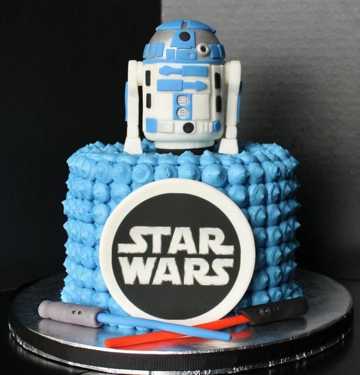 Star Wars Wedding Cake With Sunflowers