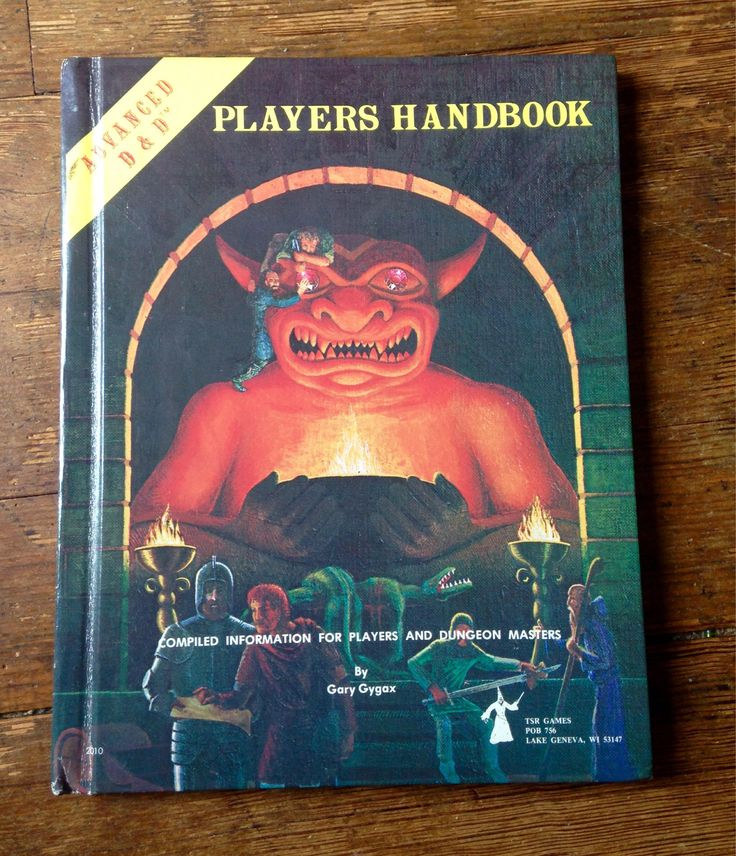 1978 Advanced Dungeons and Dragons 1st Edition, Player's Handbook Role Playing Game, 6th Printing. Gary Gygax. FN/VF. TSR Inc. #dungeonsanddragons #garygygax #rpgs