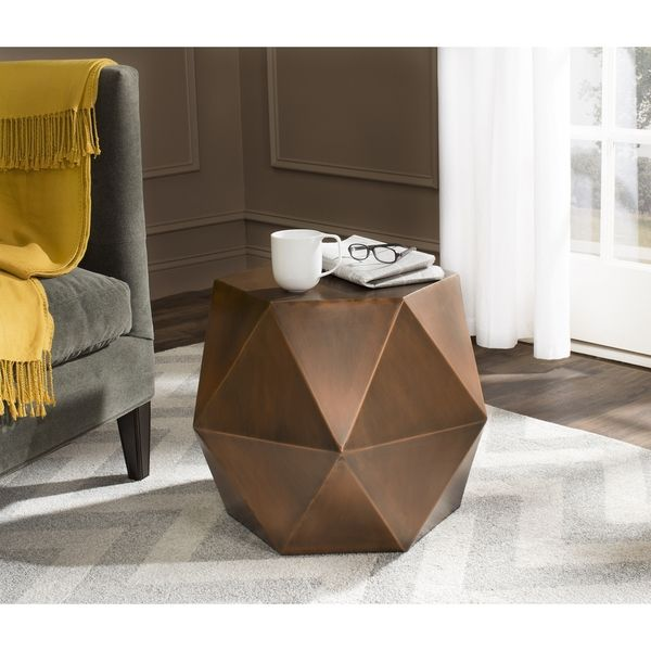 Safavieh Astrid Copper Faceted Side Table | Overstock.com Shopping - The Best Deals on Coffee, Sofa & End Tables