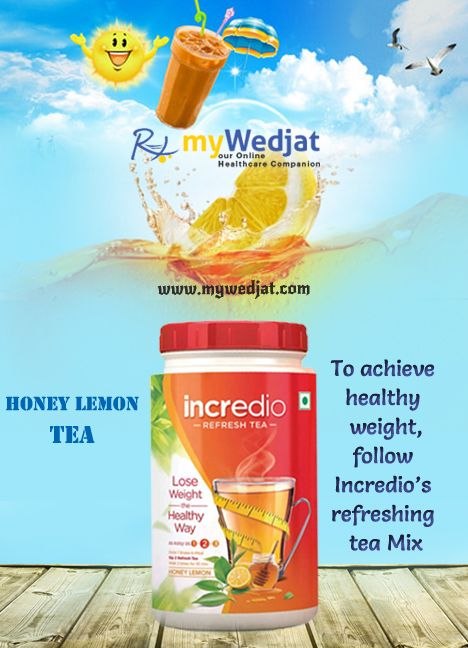 To achieve healthy weight, follow Incredio's refreshing tea Mix