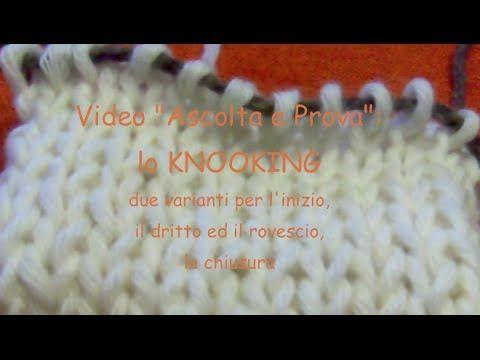 knooking tutorial in Italiano primi passi - YouTube